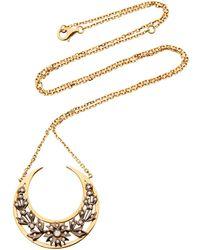 Yvonne Léon | 18k Gold Diamond Necklace | Lyst