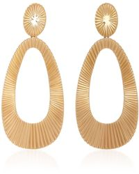 Jack Vartanian | Open Plisse 18k Rose Gold Earrings | Lyst