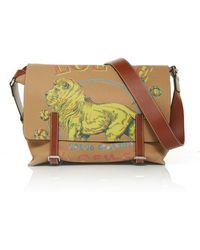 Loewe - Lion Calfskin Messenger Bag - Lyst