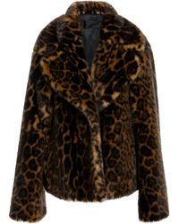 Nili Lotan - Sedella Faux Fur Leopard Coat - Lyst
