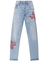 Citizens of Humanity - Liya High Rise Floral Jeans - Lyst
