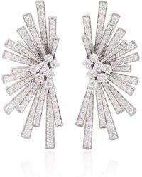 Hueb - Mirage 18k White Gold And Diamond Earrings - Lyst