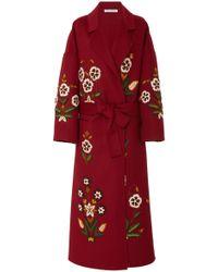 Oscar de la Renta - Floral Coat - Lyst