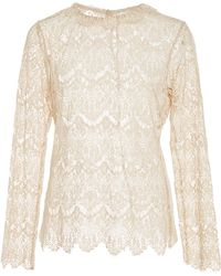 Tryb212 - Ivory Lace Michelle Top - Lyst