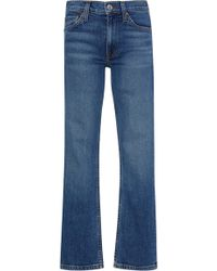 RE/DONE - Cropped Mid-rise Flared Jeans - Lyst