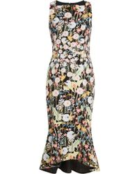 Peter Pilotto - Kia Flared Floral-print Cady Dress - Lyst