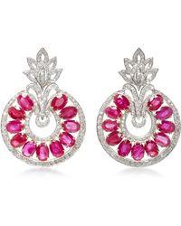 Sanjay Kasliwal - Universal Ruby Drop Earrings - Lyst