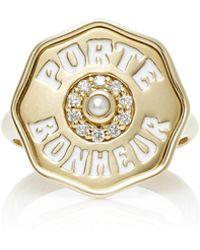 Marlo Laz - Je Porte Bonheur Coin Ring - Lyst