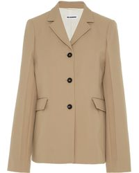 Jil Sander - Gaber Notched Collar Jacket - Lyst