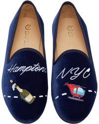 Del Toro - X Moda Operandi Nyc To Hamptons Velvet Loafers - Lyst