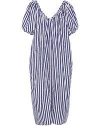 Mara Hoffman Romina Striped Puff Sleeve Cotton Dress