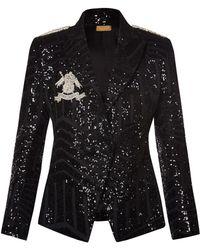 Nadya Shah - Lia Structured Sequined Blazer - Lyst