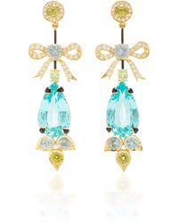 Hanut Singh - Principessa 18k Yellow Gold And Multi-stone Drop Earrings - Lyst