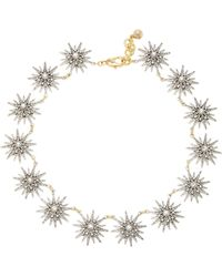 Lulu Frost - Radiant Silver And Gold-plated Brass Glass Stone Necklace - Lyst