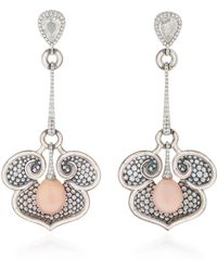 Arunashi - One-of-a-kind Diamond And Conch Pearl Earrings - Lyst