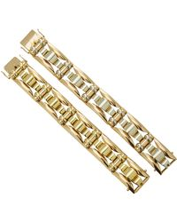 Fred Leighton - One-of-a-kind Set Of 2 Retro 18k Two-tone Bracelet - Lyst