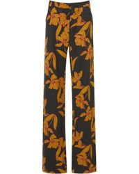A.L.C. - Vaughn Printed Wool-blend Trousers - Lyst
