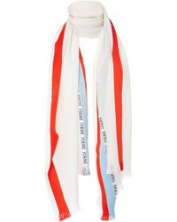 Loewe - Striped Cashmere, Wool And Silk-blend Scarf - Lyst