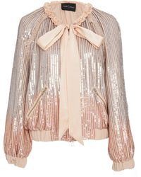 Needle & Thread - Gloss Sequin Bomber Jacket - Lyst
