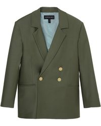 ANOUKI Double-breasted Wool-effect Blazer