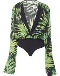 Caroline Constas - Daria Palms Bodysuit - Lyst