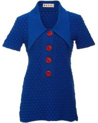 Marni - Graphic Tuck Knit Tunic - Lyst