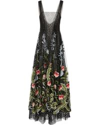 Rodarte | Embroidered Floral Tulle Dress | Lyst