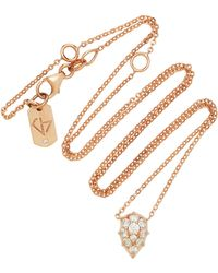 Carbon & Hyde - Venus 18k Rose Gold Diamond Choker - Lyst