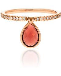 Nina Runsdorf - Flip 18k Rose Gold, Diamond And Garnet Ring - Lyst