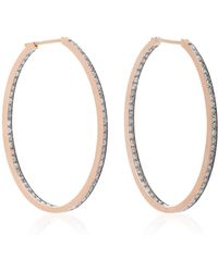 Sylva & Cie - 14k Rose Gold Diamond Earrings - Lyst