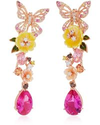 Anabela Chan - M'o Exclusive: Rose Vine Earrings - Lyst