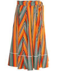 Marina Moscone - Printed Cotton Poplin Sarong - Lyst