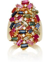 Suzanne Kalan - Rainbow Fireworks Cocktail Ring - Lyst