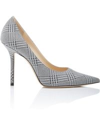 Jimmy Choo - Love Glittered Plaid Leather Pumps - Lyst