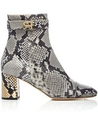 Rochas - Embossed Python Booties - Lyst