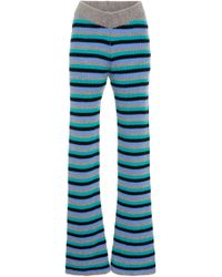 The Elder Statesman - M'o Exclusive Striped Cashmere Pants - Lyst