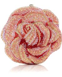 Judith Leiber - Crystal-embellished Rose Clutch - Lyst