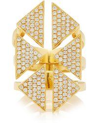 Karma El Khalil - Diamond Floating Triangle Ring - Lyst