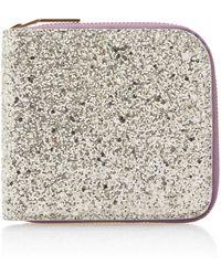 Victoria Beckham - Glittered Cotton-canvas Wallet - Lyst