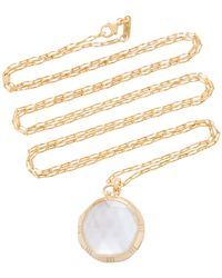 Monica Rich Kosann - 18k Gold, Crystal And Mother Of Pearl Necklace - Lyst