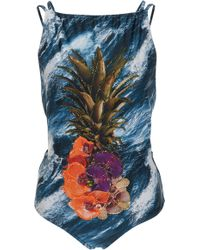 Agua de Coco | Embroidered One-piece Swimsuit | Lyst