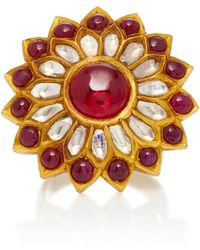 Amrapali - One-of-a-kind Diamond And Ruby Cocktail Ring - Lyst