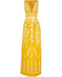 Oscar de la Renta Embroidered Gown