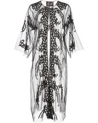 Libertine - Black Sequin Tulle Robe - Lyst