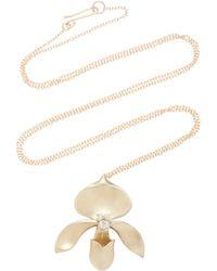 Annette Ferdinandsen - Lady Slipper 14k Gold And Keshi Pearl Pendant Necklace - Lyst