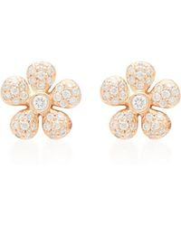 Colette - 18k Gold And Diamond Earrings - Lyst