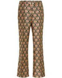 Rochas - Brocade Straight Leg Trousers - Lyst