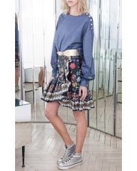 Alexis Mabille - Chambray Lace Bateau Top - Lyst
