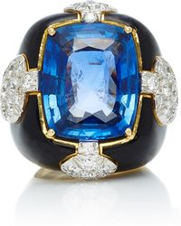 David Webb | One-of-a-kind Quatrefoil Ring | Lyst