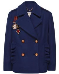 Maria Lucia Hohan - Midnite Army Style Pea Coat - Lyst